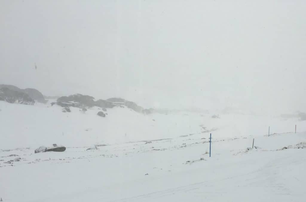 Parrawa View of Perisher Valley on a Foggy Day