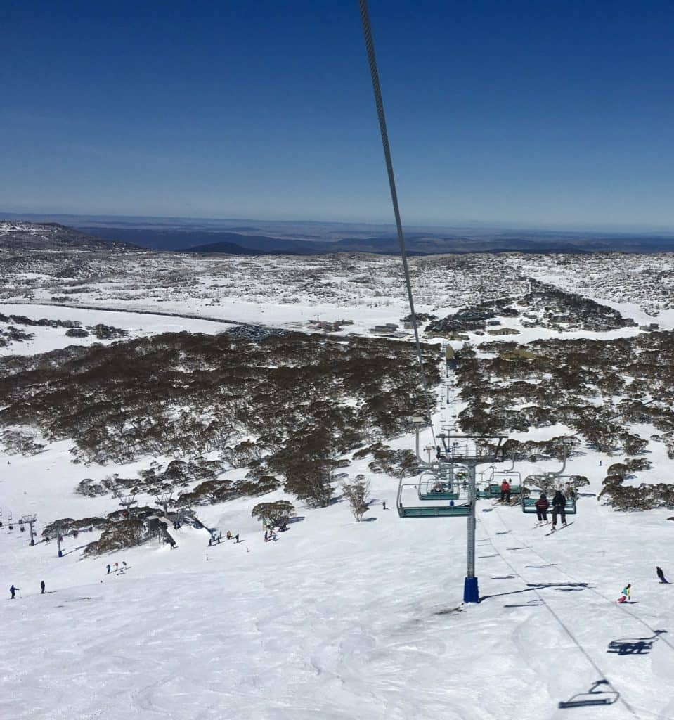 View from Top of Quad Chair